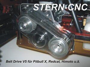 Belt Drive V5 1:1 für HSP, Himoto, Amewi Pitbull X, Redcat,  Tuning HD Top Neu