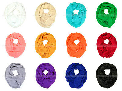 Solid Color Light Weight Thin Infinity Scarf Gold Glitter Circle Loop Fashion (Eternity Circle Loop)