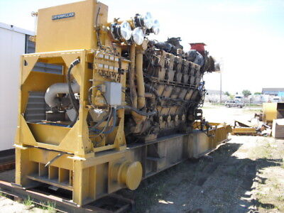 CATERPILLAR 3612 DIESEL GENERATOR SET. 3300KW, 4000HP @ 900RPM