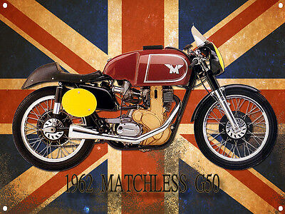 A3 LARGE SIZE MATCHLESS G50 MOTORCYCLE METAL SIGN