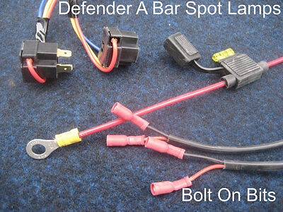 A Bar Spot light/lamp Wiring Kit Defender 90/110 Land Rover DEDICATED SPECIFIC