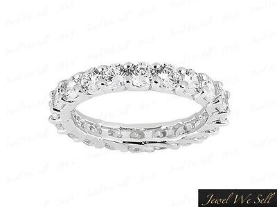 2.00Ct Round Diamond Shared Prong Eternity Wedding Band Ring 950 Platinum G SI1