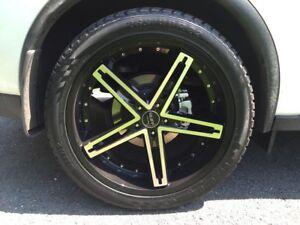 "RUFF Racing 22"" Mags/Jinyu Tires/TPMS Sensors"