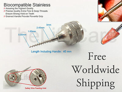 Dental Root Extraction Screw Posterior Molars Surgical Implant Instruments 3Mm
