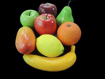 8 Lifelike Decorative Plastic Artificial Fake Fruit Home Decor Craft Orange Appl
