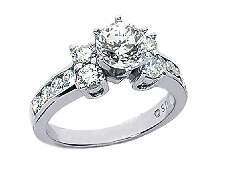 Genuine 1.75ct Round Cut Diamond Engagement Ring Solid 14k Gold