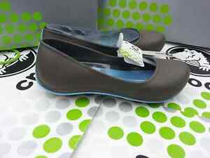 CROCS-TONE-JULIA-FLAT-MARY-JANE-ALICE-SLIP-ON-Brown-Blue-Women-9-NWT-CROCSTONE