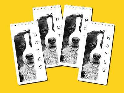 Bernese Mountain Dog Small Jotter Slim Note Pads pack of 4, GIft Set