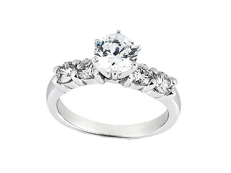 Natural 1.10ct Round Cut Diamond Engagement Ring Solid 950 Platinum Ef Vvs