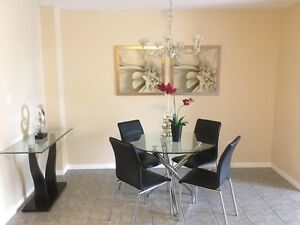 Good quality dining table with chairs for sale