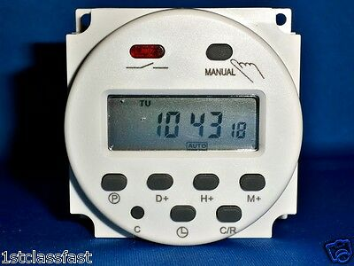 12volt 12v Dc Programmable Lcd Digital Timer Control 16a 12vdc Upto 8 Cyclesday