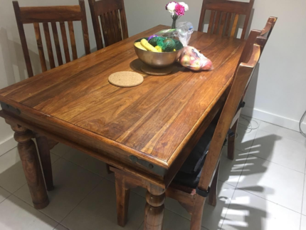 Solid Wood Table with 4 chairs for Sale | Dining Tables | Gumtree ...