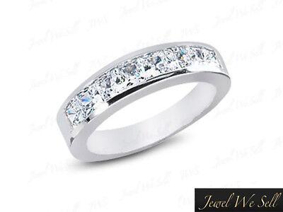 1,04 CT Diamant Ehering Karat Prinzessin Schnitt Kanal Set H SI2 (Weiß Gold Prinzessin Schnitt Ring Set)