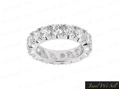 Genuine 2.70Ct Round Diamond Eternity Wedding Band Ring 10k White Gold SI1 Prong