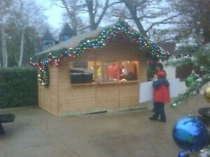 Chalet - 8 x 10' Wooden Christmas Market Chalet with electrics