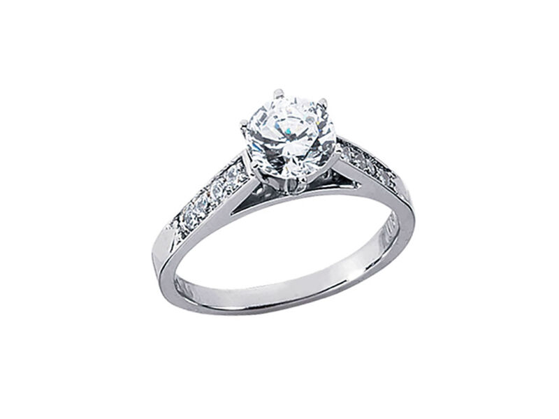 0.70ct Round Diamond Cathedral Engagement Ring Solid 950 Platinum Ef Vvs