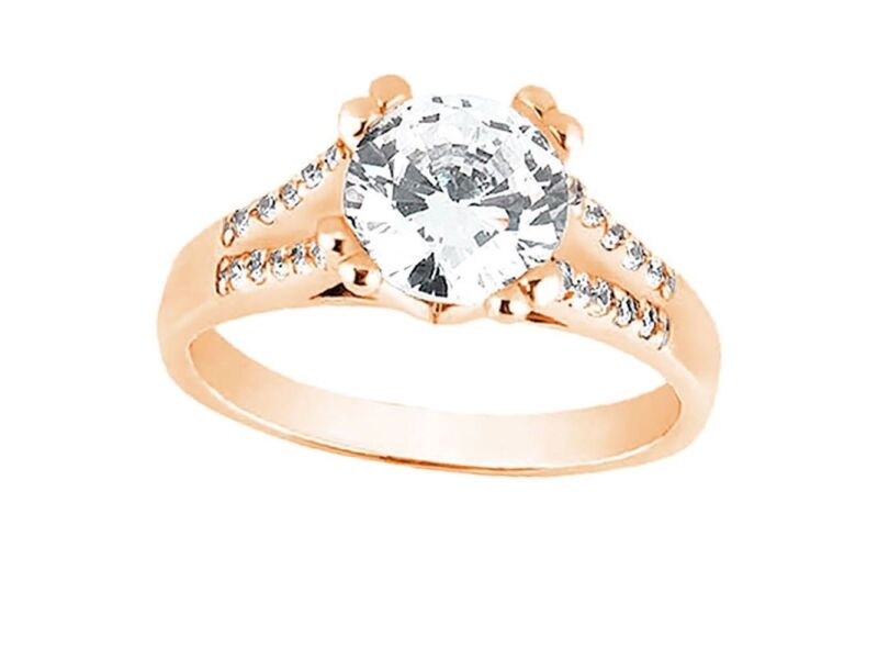 Natural 1.00ct Round Diamond Split Shank Engagement Ring Solid 18k Gold G Si1