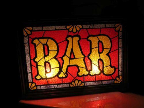 """Vintage Lighted """" BAR """" Sign for Man Cave"""