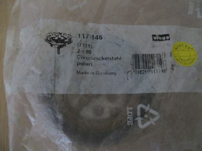 "Viega Ablaufventil 117146 Modell 7121 1 1/2"" AG x 80 mm   Auslaufventil K17/994"