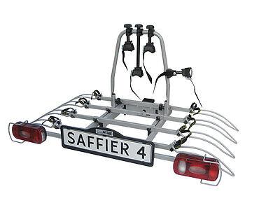 Saffier IV Towbar Mounted Tilting 4 Bike Rack / Four Cycle Carrier