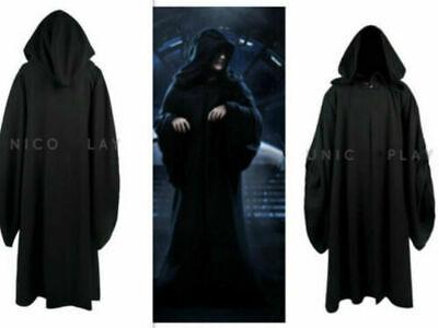 Star Wars Emperor Palpatine Darth Sidious Robe Cosplay Costume Black](Emperor Palpatine Costumes)