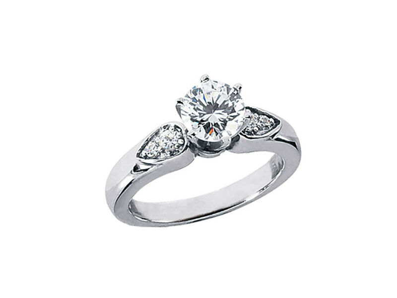 Genuine 0.65ct Round Cut Diamond Engagement Ring Solid 950 Platinum G Si1