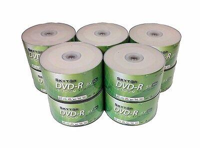 500 Blank SKYTOR DVD-R DVDR 8X White Top 4.7GB Recordable Media Disc