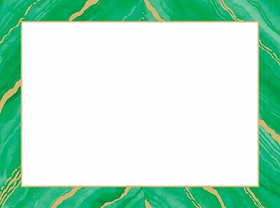 Caspari Boxed Holiday Photo Cards, Marble Green and Gold, Box of 10 (87993G) ()