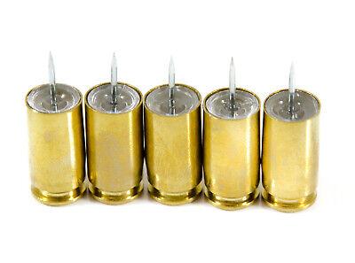 Bullet Push Pins - Real .40 Caliber Bullet Casings - Set Of 5 Thumb Tacks