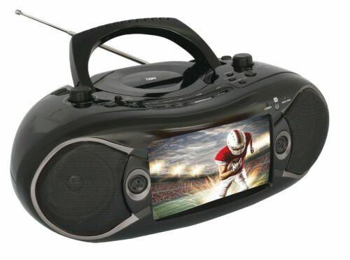 NAXA Electronics NDL-287 7-inch LCD Screen Bluetooth DVD Boombox & TV