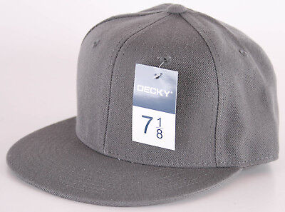 Head Fitted Cap (Decky Retro Fitted Kappe Cap Basecap Head Wear Farbe grau anthrazit)