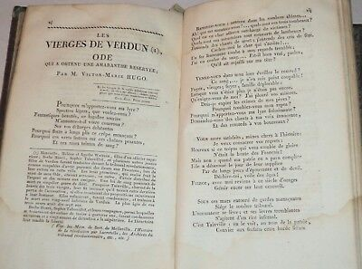 16 year old VICTOR HUGO 3 EARLY 1ST ED. POEMS  in 1819 Academie des Jeux Floraux for sale  Cadyville