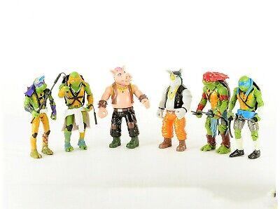 Teenage Mutant Ninja Turtles 6 pcs Toy Figures Set: Leo Ralph Donnie Mickey+More](Turtles Kids)