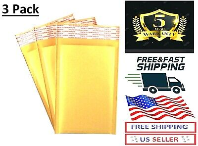3pack Best Small Self Seal Kraft Bubble Mailers Padded Envelopes 4x 8