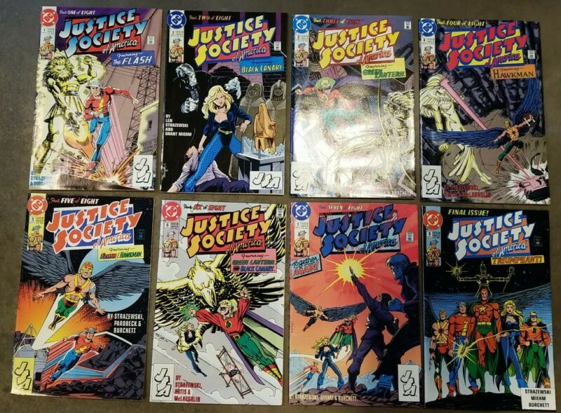 Justice Society of America (1991) #1 2 3 4 5 6 7 8 - Fine - Set lot of 8, B