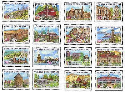 Definitive Postage Stamps - TURKEY 2006, DEFINITIVE POSTAGE STAMPS, TURKISH PROVINCES, MNH