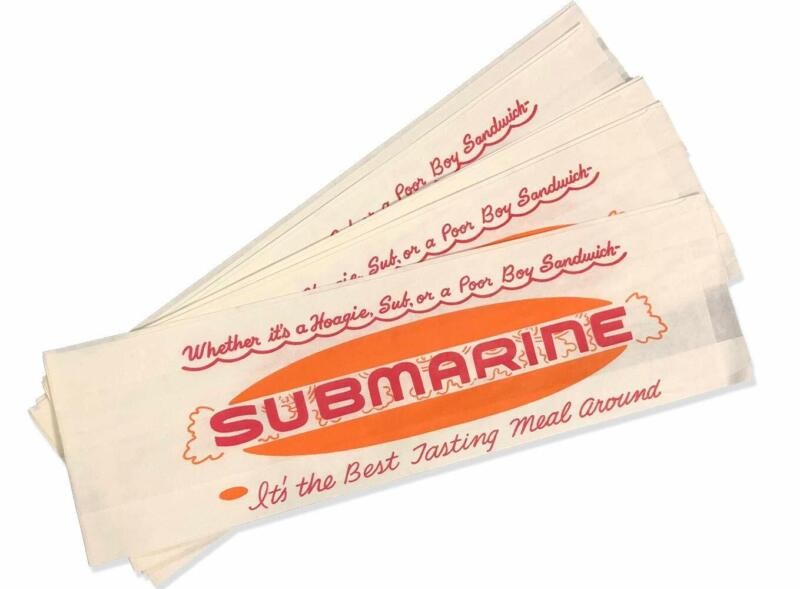 *Closeout Price - Limited Quantity* Submarine/Hoagie Bag for Sub Sandwiches