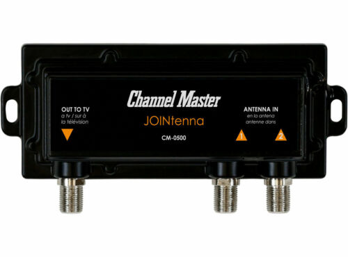 Channel Master Jointenna TV Antenna Combiner Join 2 TV Antennas to 1 Coax Cable