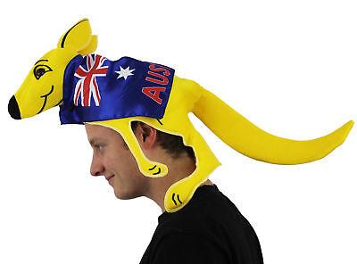 Australisch Känguru Hut mit Flag Kostüm Zubehör Fußball Rugby Fan ()
