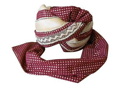 Groom Pagri Men Hat Indian Wedding Turban Handmade Safa Pag Top Hat