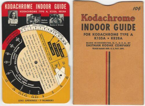 Kodak Kodachrome Shutter Speed / Lens Opening Indoor Guide