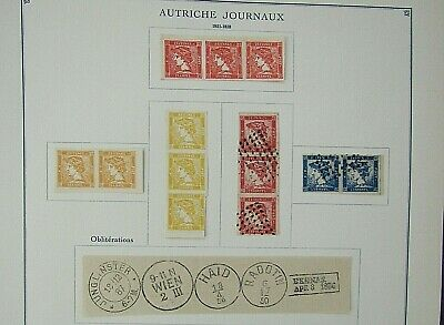 AUSTRIA IMPERFS - FINE COLLECTION OF EARLY FOURNIER FORGERIES - ON ORIGINAL PAGE