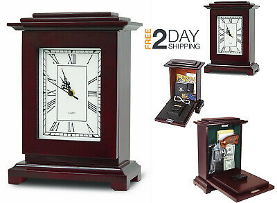 Hidden Firearm Storage Cabinet Lockable Grandfather Clock Safe Gun Rack secret N
