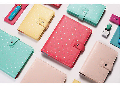 Faux Leather Planner Agenda For Filofax Cover Binder Macaron Notebook 2018 A5a6