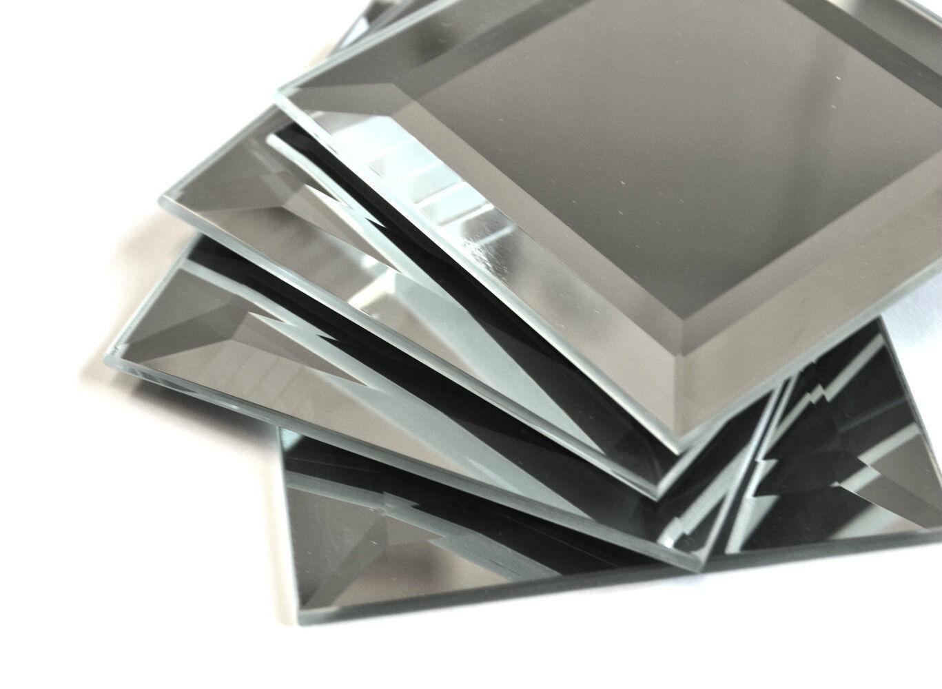 3x3 Wide Beveled Glass Mirror Tile Decorative Accent Art-cra