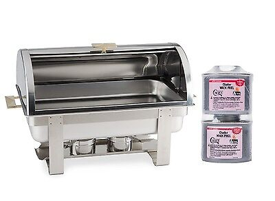 New Deluxe Roll Top Chafer Stainless Chafing Dish Lowest Total Price 10 Rebate
