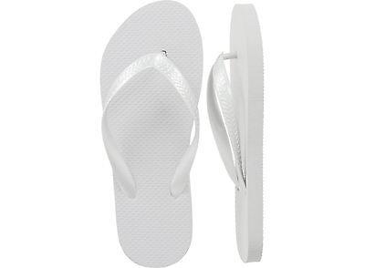 Bulk Flip Flops (Women White Flip Flops, Wholesale lot of 48 pairs, Assorted)