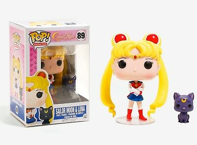 Funko Pop Animation: Sailor Moon - Sailor Moon & Luna Vinyl Figure Item #6350