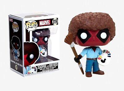 Funko Pop Marvel: Deadpool as Bob Ross Vinyl Bobble-Head Item #30865](Dead Pool Toy)