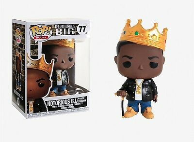 Funko Pop Rocks: The Notorious B.I.G. - Notorious B.I.G. with Crown #31550